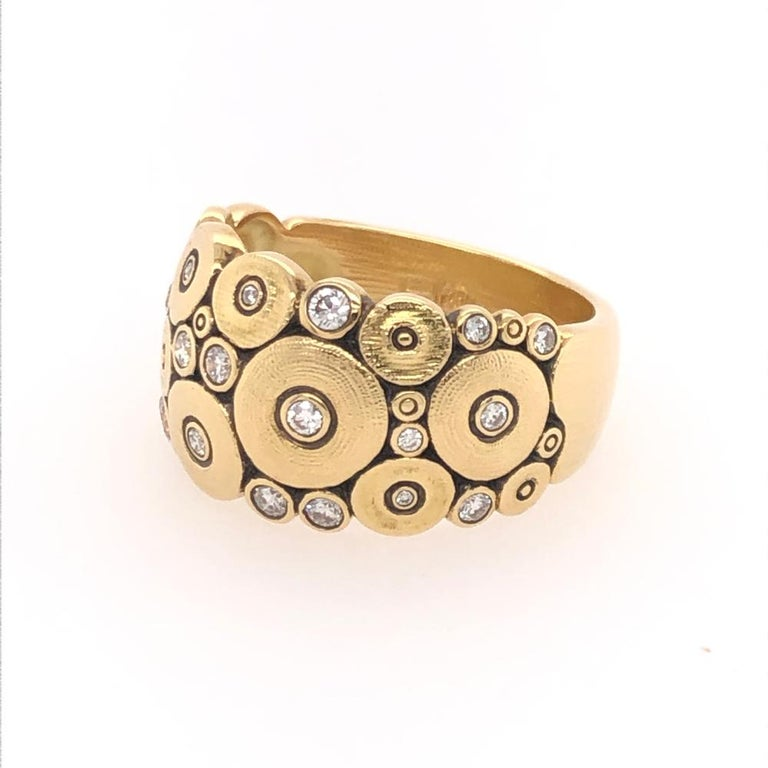 Modern Alex Sepkus Diamond Yellow Gold