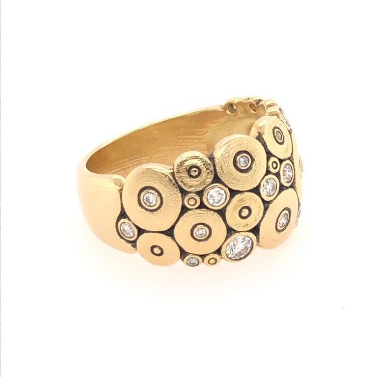 Round Cut Alex Sepkus Diamond Yellow Gold