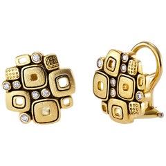 Alex Sepkus Gold and Diamond Little Windows Earrings