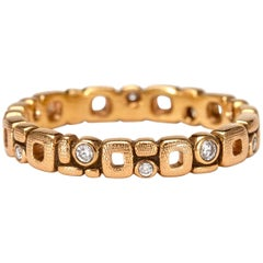 "Alex Sepkus ""Micro Windows"" Band Ring with White Diamonds in 18 Karat Rose Gold"