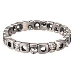 "Alex Sepkus ""Micro Windows"" Band Ring with White Diamonds in Platinum"