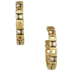 Alex Sepkus Micro Windows Diamond and Gold Earrings