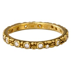 "Alex Sepkus ""Mini 62"" Band Ring with White Diamonds in 18 Karat Yellow Gold"
