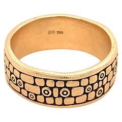 """Alex Sepkus """"Old Bridge"""" Band Ring in 18 Karat Yellow Gold"""