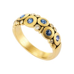 """Alex Sepkus Sapphire and Diamond Yellow Gold """"Candy"""" Ring"""