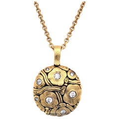 """Alex Sepkus """"Summer Flowers"""" Pendant Necklace with White Diamonds in Gold"""