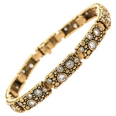 "Alex Sepkus ""Tiny"" Link Bracelet with Brilliant White Diamonds in Gold"