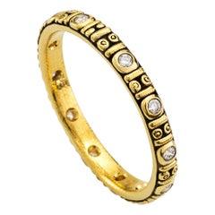Alex Sepkus Yellow Gold Diamond Band