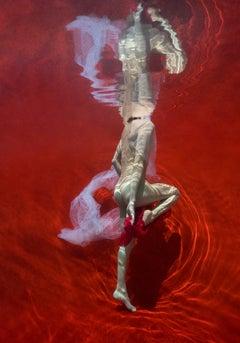 Blood and Milk VII  - underwater nude photograph - print on aluminum