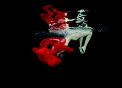 Blood Drop - underwater nude photograph - print on paper