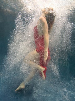 Coming Back   - underwater photograph - print on aluminum