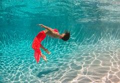 Flurry - underwater photograph - print on aluminum