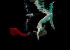 Free Fall - underwater nude photograph - print on paper