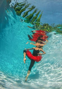 Lombardy Ballet - underwater photograph - print on aluminum