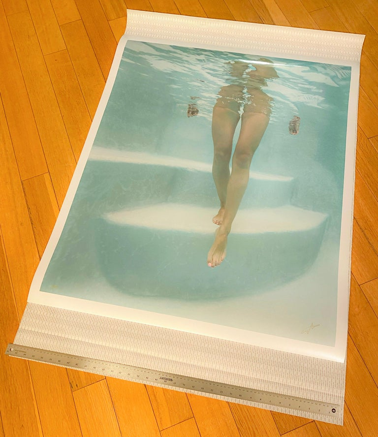 Steps  - underwater photograph - print on paper - Contemporary Photograph by Alex Sher