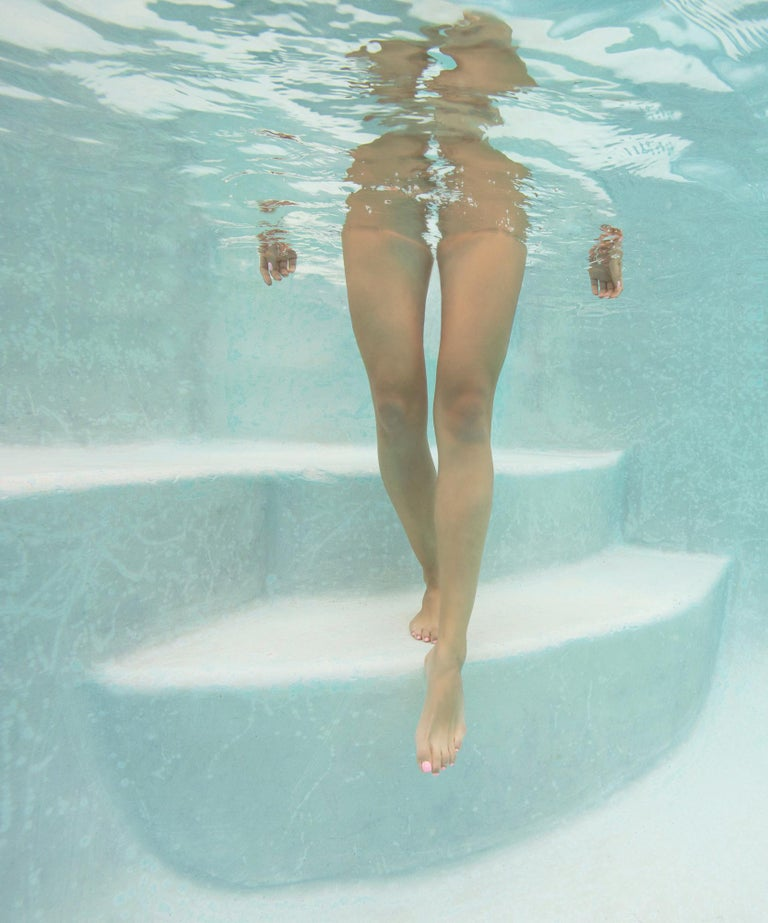 Alex Sher Figurative Photograph - Steps  - underwater photograph - print on paper