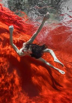 Wild Blood   - underwater nude photograph - print on aluminum