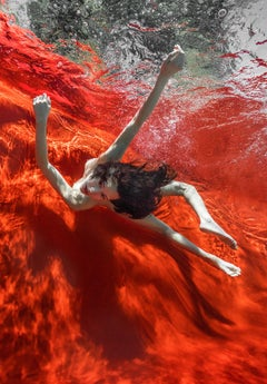 Wild Blood  - underwater nude photograph - print on paper