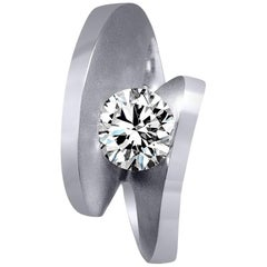 Alex Soldier Diamond Platinum Engagement Wedding Cocktail Ring One of a Kind
