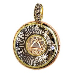Alex Soldier Diamond Quartz Gold Mystic Talisman Pendant Necklace