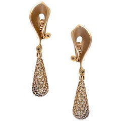 Alex Soldier Diamond Rose Gold Drop Dangle Earrings Sterling One of a Kind