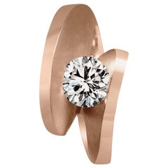 Alex Soldier Diamond Rose Gold Engagement Cocktail Ring One of a Kind