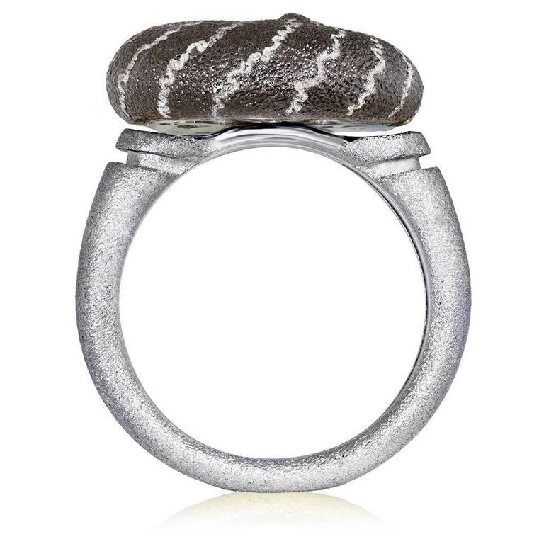 Women's or Men's Alex Soldier Diamond Sterling Silver Little Snail Ring
