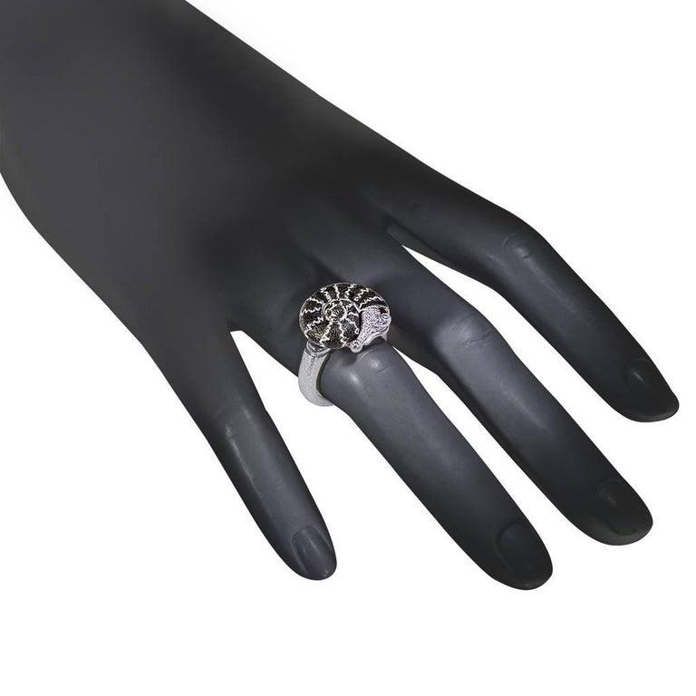 Alex Soldier Diamond Sterling Silver Little Snail Ring 1