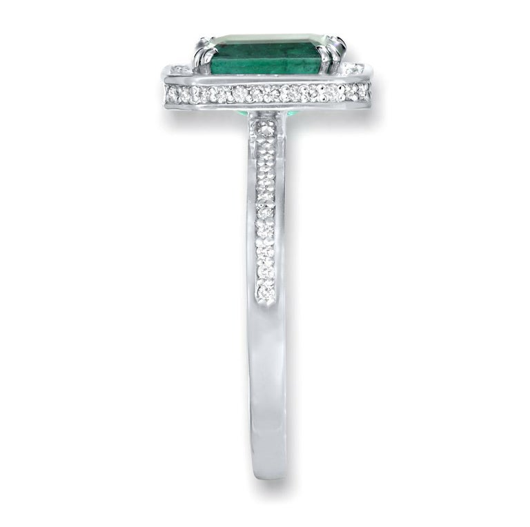 Emerald Cut Alex Soldier Emerald Diamond 18 Karat Gold Cocktail Ring One of a Kind For Sale