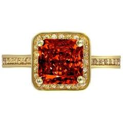 Alex Soldier Garnet Gold Engagement Wedding Cocktail Ring One of a Kind