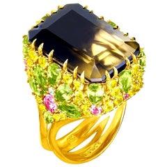 Alex Soldier Gold Blossom Ring as Seen on Scarlett Johansson