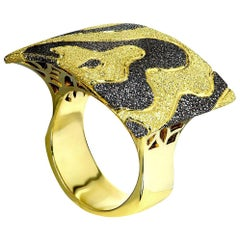 Alex Soldier Gold Platinum Textured Cora Ring One of a Kind
