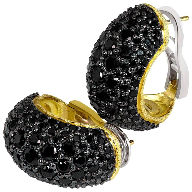 Alex Soldier Spinel Gold Earrings One of a Kind For Sale