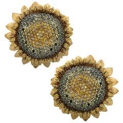 Alex Soldier Sunflower Earrings