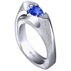 Alex Soldier Tanzanite 18 Karat White Gold Cocktail Ring One of a Kind