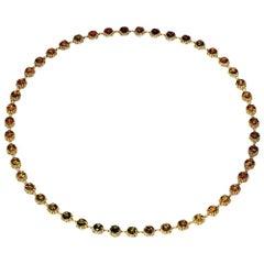 Alex Soldier Tourmaline Diamond Gold Byzantine Necklace One of a Kind