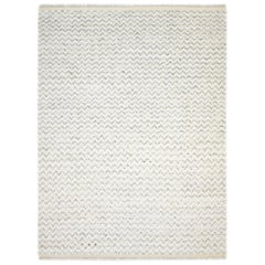 Alexa, Bohemian Shaggy Moroccan Hand Knotted Area Rug, Parchment