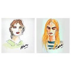 Alexa Chung & Cara Delevigne, Diptych
