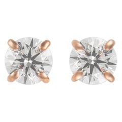 Alexander 0.92 Carat Diamond Stud Earrings Rose Gold