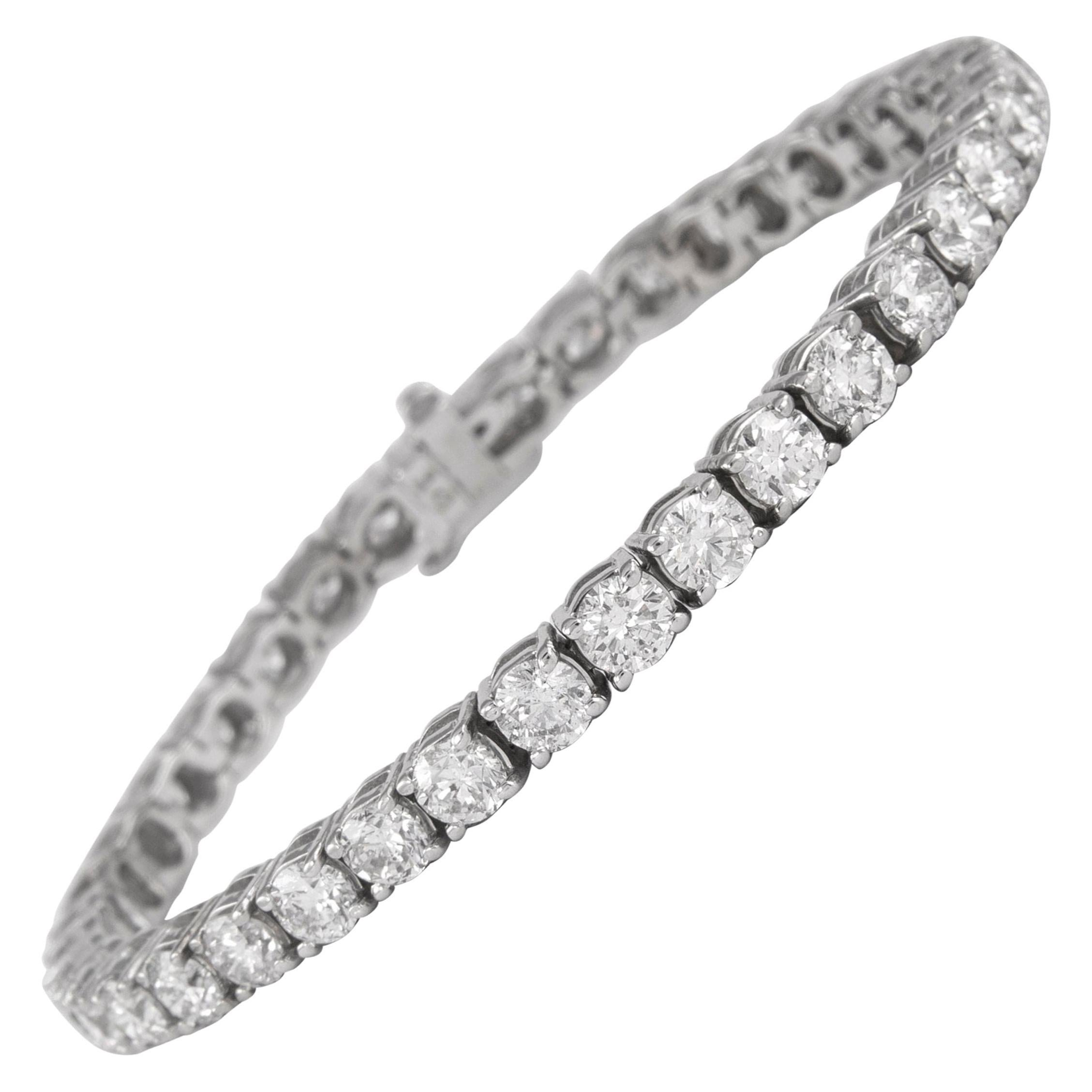 Alexander 10.41 Carat Diamond Tennis Bracelet 18 Karat White Gold