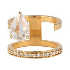 Alexander 2.12 Carat Floating Diamonds Ring 18 Karat Yellow Gold