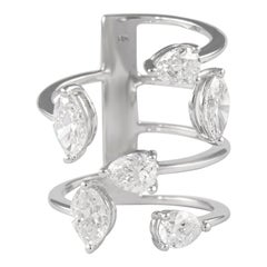 Alexander 3.23 Carat Floating Diamonds Ring 18 Karat White Gold