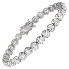 Alexander 9.34 Carat Diamond Tennis Bracelet 18 Karat White Gold