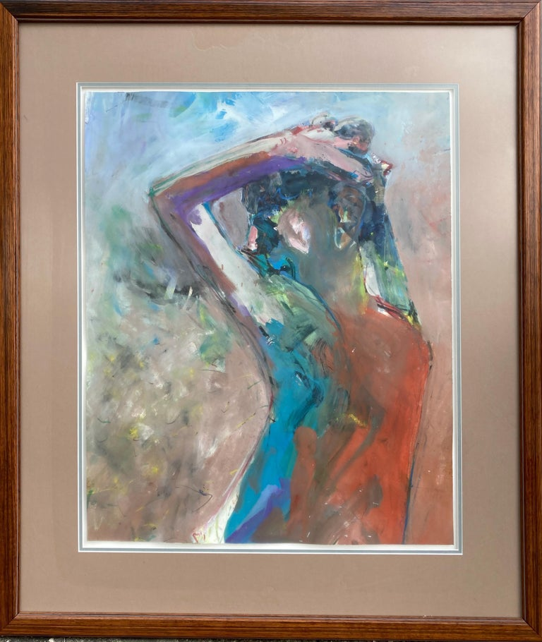 Alexander Barnes Abstract Painting - Untitled (Portrait of a Woman)