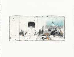 New Delhi, India, Alexander Befelein Contemporary Limited Edition Print Etching