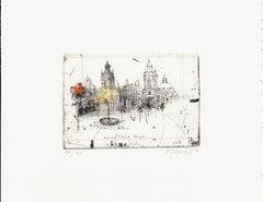 Peru, Lima I, Alexander Befelein Contemporary Limited Edition Print Etching Grey