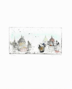Wien, Austria, Alexander Befelein Contemporary Limited Edition Print Etching