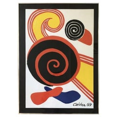 Alexander Calder 1969 Lithograph Signed and Dated