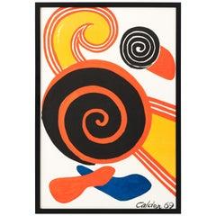 Alexander Calder 1969 Spirals Newly Framed Lithograph