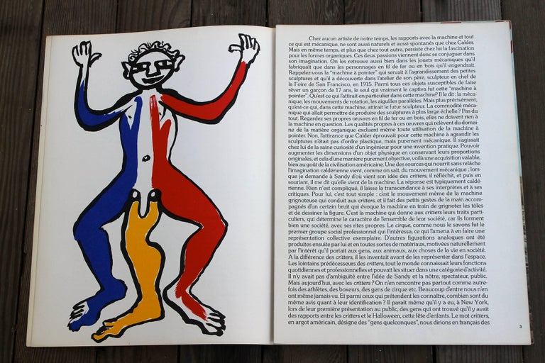 Containing five original lithographs by Alexander Calder. This is edition no. 212 Janvier 1975 of the Derriere le Miroir. Published in Paris by Galerie Maeght. Without staples. Very good condition, slight tear to spine as shown.